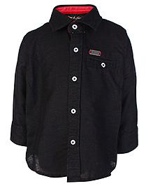 Gini & Jony Full Sleeves Shirt Black