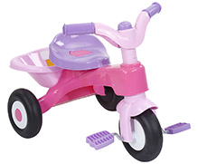 Fab N Funky Tricycle With Back Basket - Pink And Purple