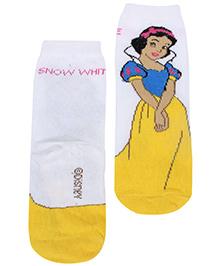 Disney Princess Snow White Printed Ankle Length Socks