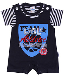 Child World Short Romper Black - Champion Print