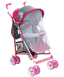 Fab N Funky Stroller - Pink And Grey