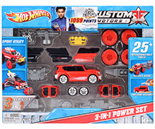 Hotwheels Custom Motors 3 In 1 Power Set - Red