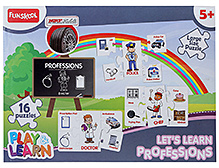 Funskool Play And Learn Puzzle - Lets Learn Professions - 5 Years+