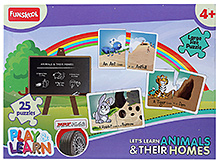 Funskool Play And Learn Puzzle - Lets Learn Animals And Their Homes - 4 Years+