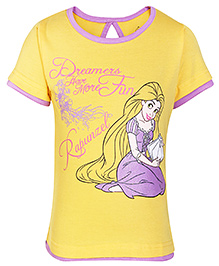 Disney Half Sleeves T-Shirt Yellow - Rapunzel Print