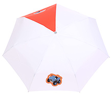 Fab N Funky Car Print Kids Umbrella - White And Red