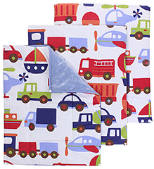 Mee Mee Diaper Changing Mats Vehicle Print - Pack of 3