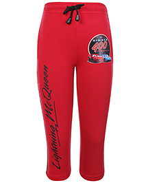 Disney Full Length Track Pant With Drawstring Red - Lightning McQueen Print
