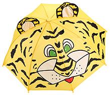 Fab N Funky Tiger Print Kids Umbrella - Yellow