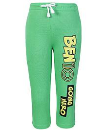 Ben 10 Full Length Track Pant With Drawstring Green - Going Hero Print