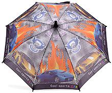 Fab N Funky Car Print Kids Umbrella - Black And Multi