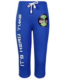 Ben 10 Track Pant With Drawstring Royal Blue - Its Hero Time Print