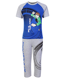 Ben 10 Half Sleeves T-Shirt And Legging Grey - Alien Force Print