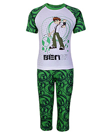 Ben 10 Half Sleeves T-Shirt And Legging Green