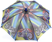 Fab N Funky Bike Print Kids Umbrella - Multi Colour