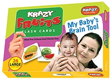 Krazy Fruits Flash Cards 26 Cards - English