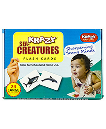 Krazy Flash Cards Sea Creatures My Baby Brain Tool - 26 Large Cards