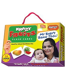 Krazy Flash Cards With Ring Fruits My Baby Brain Tool - 26 Large Cards