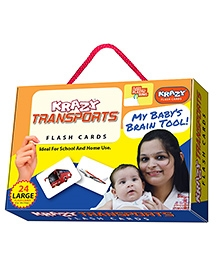 Krazy Flash Cards With Ring Transport My Baby Brain Tool - 26 Large Cards