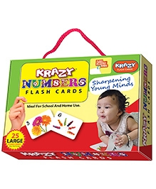 Krazy Flash Cards With Ring Numbers My Baby Brain Tool - 26 Large Cards