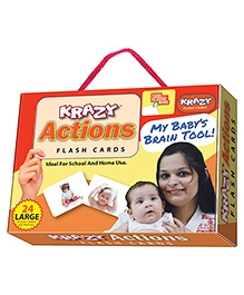 Krazy Flash Cards With Ring Actions My Baby Brain Tool - 26 Large Cards