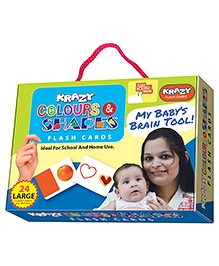 Krazy Flash Cards With Ring Colours And Shapes My Baby Brain Tool - 24 Large Cards