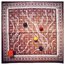Desi Toys Saap Seedi Warli Fabric Board Games