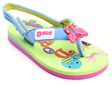 Dora Flip Flop Slipper with Back Strap - Green
