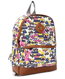 Fab N Funky School Bag - Vehicle Print