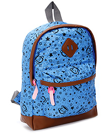 Fab N Funky School Bag - Star Print - 8 X 23 X 30 Cm