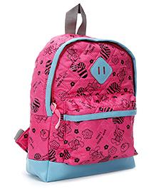Fab N Funky School Bag - Pink - 8 X 23 X 30 Cm