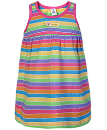 ToffyHouse Sleeveless Frock Multicolor - Stripes Print