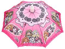 Fab N Funky Kids Umbrella Monster High Girls Print - Pink