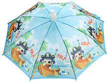 Fab N Funky Kids Umbrella Blue - Boat Print