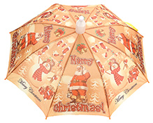 Fab N Funky Kids Umbrella Orange - Christmas Print