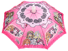 Fab N Funky Printed Kids Umbrella With Frills - Pink