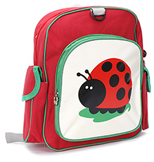 Fab N Funky School Bag Lady Bug Print - Red