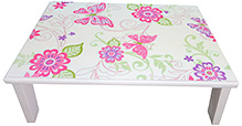 Kidoz Butterfly Paisly Multipursose Bed Table - Pink