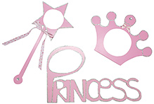 Kidoz Princess Stick On Frame - Light Pink