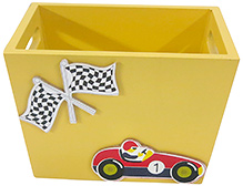 Kidoz Racer Car Utility Container - Light Yellow