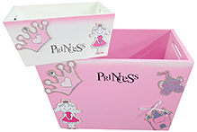 Zidoz Princess Print Toy Container Combo - Set of Two