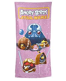 Sassoon Bath Towel Purple Angry Birds Star Wars Print