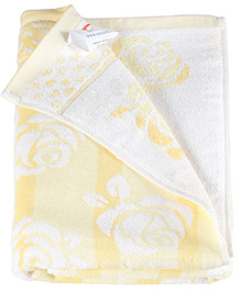 Sasson Bath Towel Yellow - Roses Design
