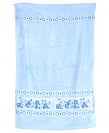 Sassoon Baby Bath Towel Bamboo Plain - Blue