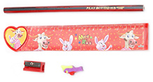 Mr. Clean Stationary Set Red- 4 Pieces