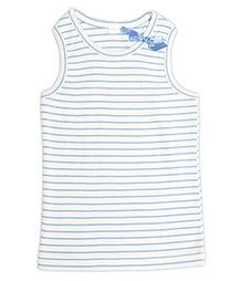 Nino Bambino Sleeveless Tank Top Blue - Horizontal Stripe Print