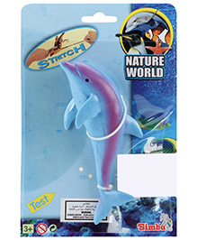 Simba Nature World Ocean Long Stretchable Toy Blue- Dolphin