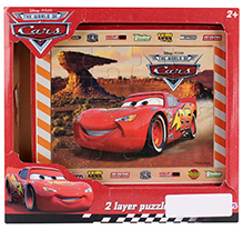 Simba Cars 2 Layers Wooden Puzzle