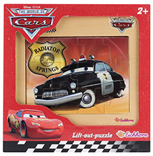 Simba Cars Wooden Frame Puzzle Radiator Springs Black- 12 Pieces