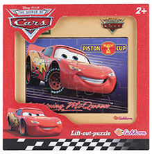 Simba Cars Wooden Frame Puzzle Piston Cup Red- 12 Pieces